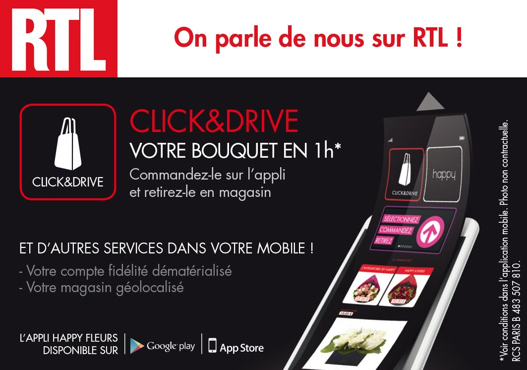 L'application Happy sur RTL