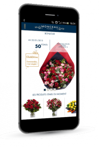 application mobile monceau fleurs nantes